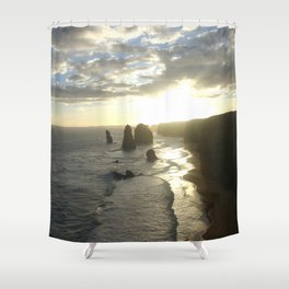 Dusk falls over the Great Southern Ocean Shower Curtain