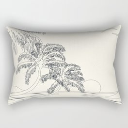 Beach Linescape Rectangular Pillow