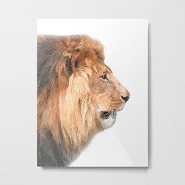 Lion Profile Metal Print