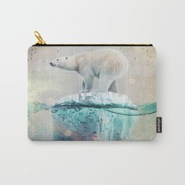 Polar Bear Adrift Carry-All Pouch