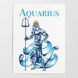 Aquarius Water Zodiac Gift Poster
