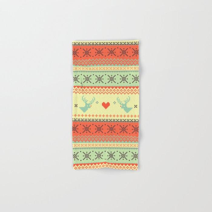 Holiday Pixels Hand & Bath Towel