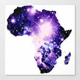 Violet Purple Galaxy Africa Canvas Print