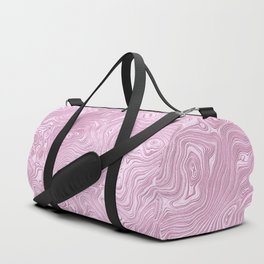 Powder Pink Silk Moire Pattern Duffle Bag