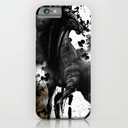 HORSE AND THUNDER Black Ink Splatter iPhone Case