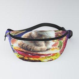 Hamburger Astro Cat On Burger Fanny Pack