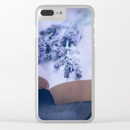 Summer Lavender Clear iPhone Case