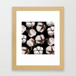 Cotton flower Framed Art Print