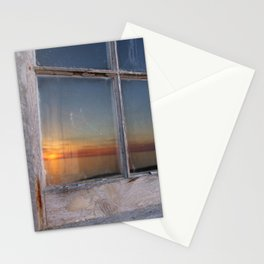 Window Sunset  Stationery Cards
