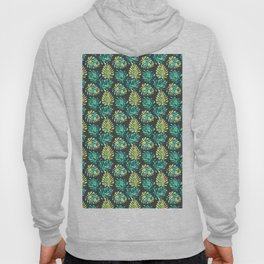 Modern green yellow tropical monster cheese leaves pattern Hoody