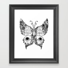 hate love butterfly Framed Art Print