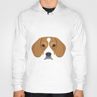 beagle Hoodies featuring Beagle by Three Black Dots