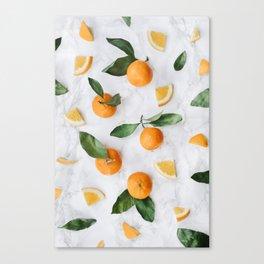 Marble + Orange Grove Canvas Print