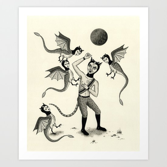 Wings and Talons Art Print