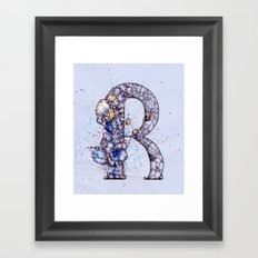 alphabet-R Framed Art Print