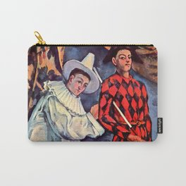 """Paul Cezanne """"Pierrot and Harlequin (Mardi gras)"""", 1888 Carry-All Pouch"""