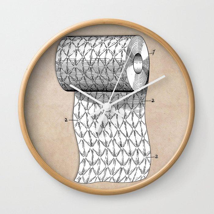 patent art Wheeler Process of ornamenting paper 1893 Wall Clock