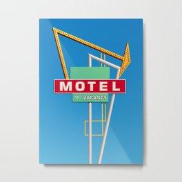 Antique Motel Sign Metal Print