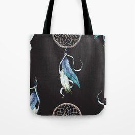 Dreamcatcher Pattern on Black 01 Tote Bag