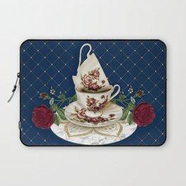 Vintage Rose Tea Cups Laptop Sleeve