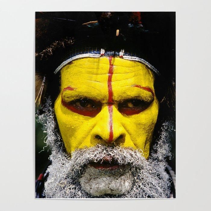 Papua New Guinea: Huli Wigman Poster