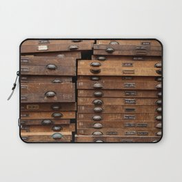 Wooden cabinet with drawers Laptop Sleeve