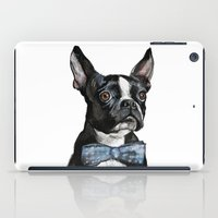boston terrier iPad Cases featuring Boston Terrier by Orestis Lazos