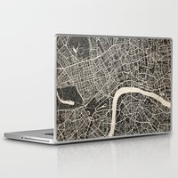 london map Laptop & iPad Skins featuring London map by NJ-Illustrations
