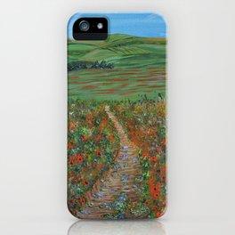 New Journey, Impressionism Poppy Field iPhone Case