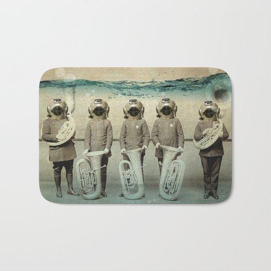 the diving bell Tuba quintet Bath Mat