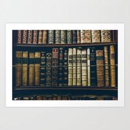 The Bookshelf (Color) Art Print