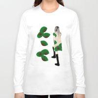 cara Long Sleeve T-shirts featuring Cara by Melania B
