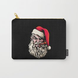 Merry Christmas santa clause with cigar wild look Carry-All Pouch