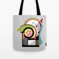 bauhaus Tote Bags featuring Bauhaus II by Lanre Studio