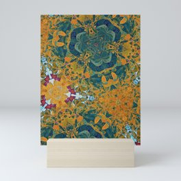 Orange and Green Flora Mini Art Print