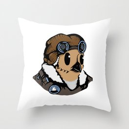 Sergeant Fluff n Feathers Throw Pillow