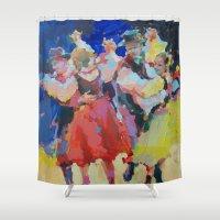 folk Shower Curtains featuring Folk  by Renata Domagalska