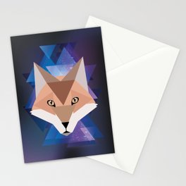 Galaxy Fox Stationery Cards