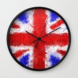 Union Jack Graffiti Wall Clock