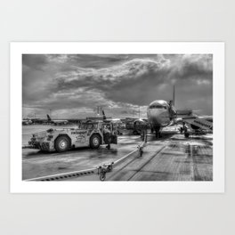 Pegasus Airlines Stanstead Airport Art Print