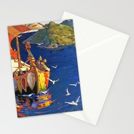 Nicholas Roerich - Guests From Overseas - Digital Remastered Edition Stationery Cards