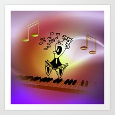 singing a song Art Print