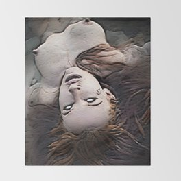 Salem Witch Dead In the Water Throw Blanket
