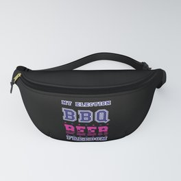 BBQ BEER FREEDOM   Scream   Stealing The Election Fanny Pack
