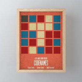 Codenames (Red) - Minimalist Board Games 05B Framed Mini Art Print