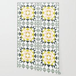 Pretty Triangle Modern Medallion Wallpaper