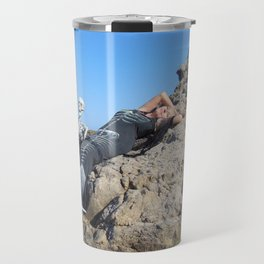 """Basking In The Sun"" by Vamplified Travel Mug"
