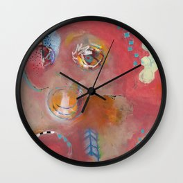 Too Pink For Comfort Wall Clock