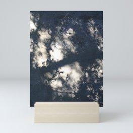 Photography shadows shadowplay plants floral trees wood wall minimalistic Mini Art Print