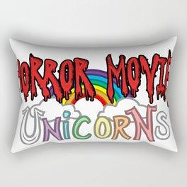 Horror Movie Unicorns: Logo Rectangular Pillow